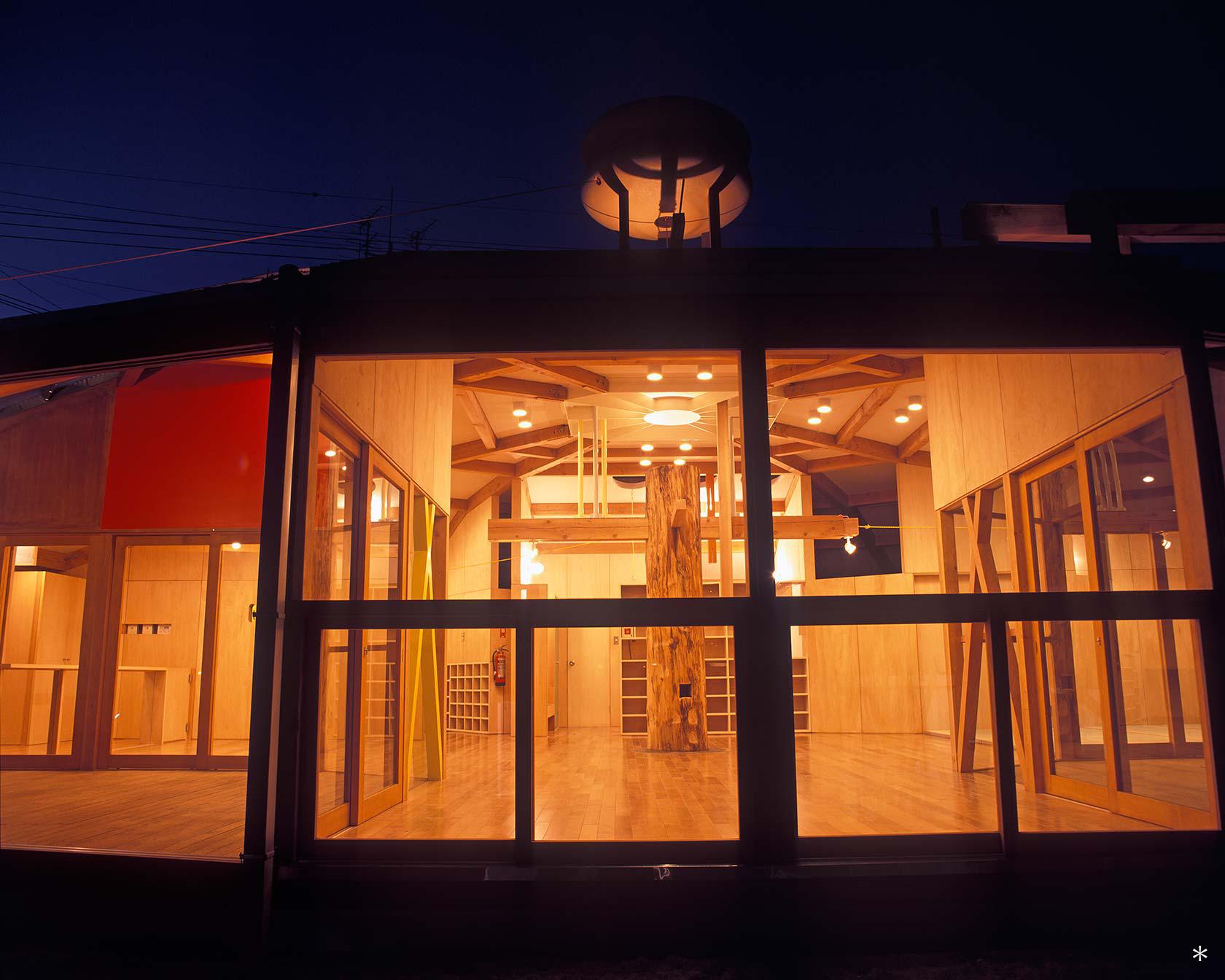 A保育センター16-どろんこ棟 夜景