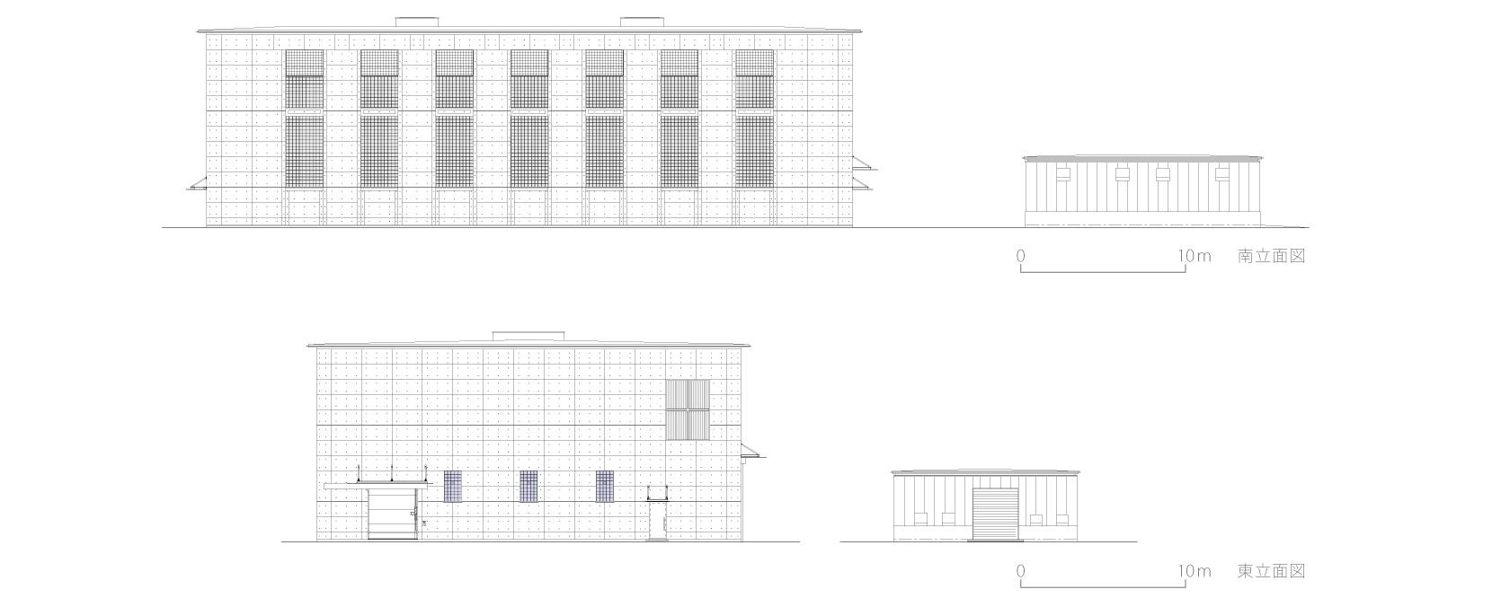 新鍛造工場8-立面図