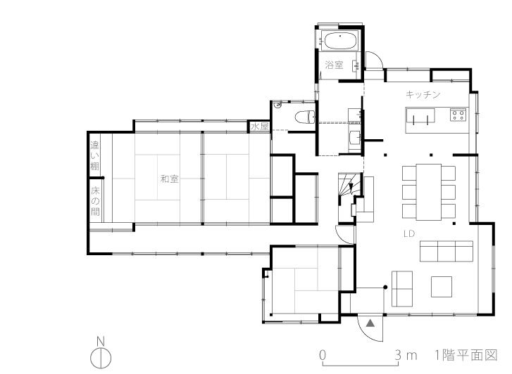 八王子S邸3-平面図
