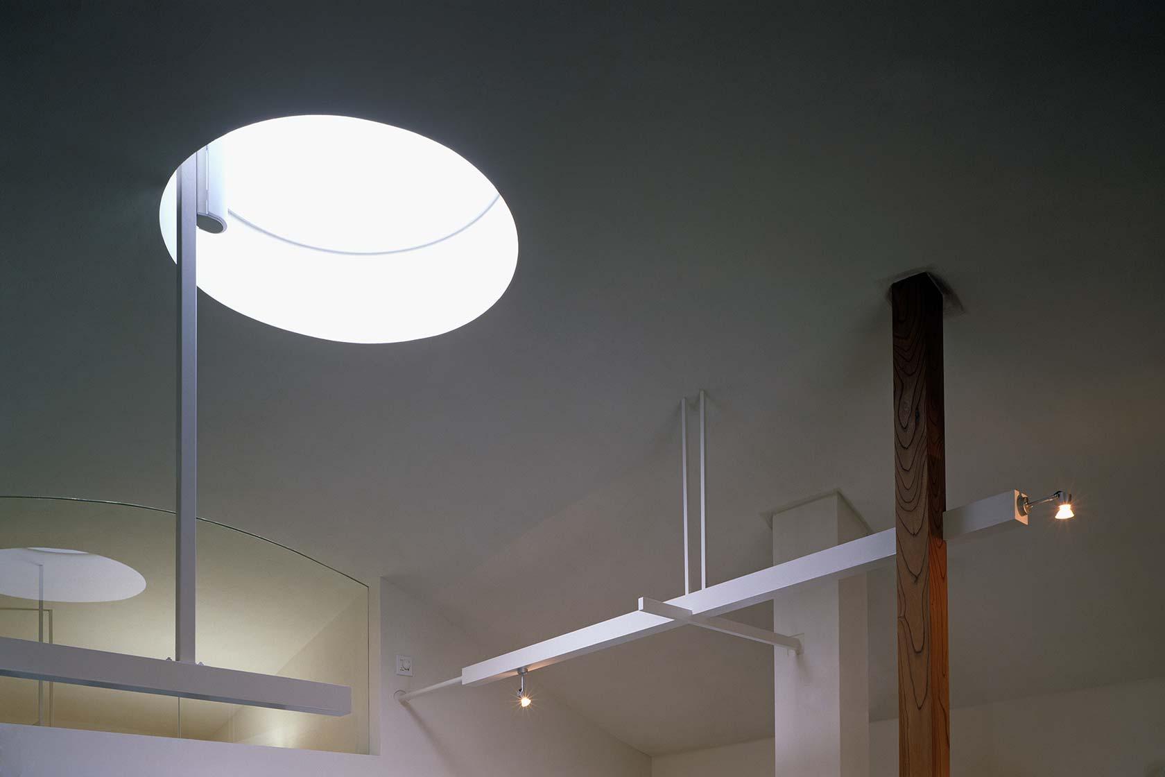 K織物株式会社+K邸33-リビング天井のトップライト