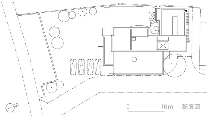 K織物株式会社+K邸3-配置図