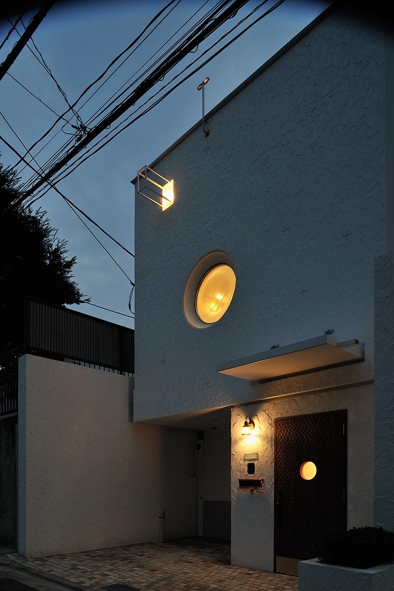 恵比寿N邸12-東面外観 夜景