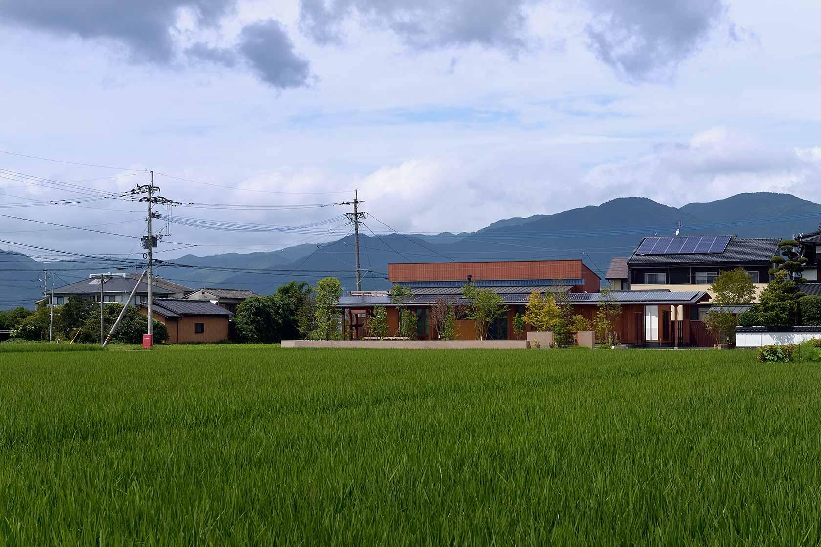 吉野ヶ里の家1-水田の中にたたずむ吉野ヶ里の家