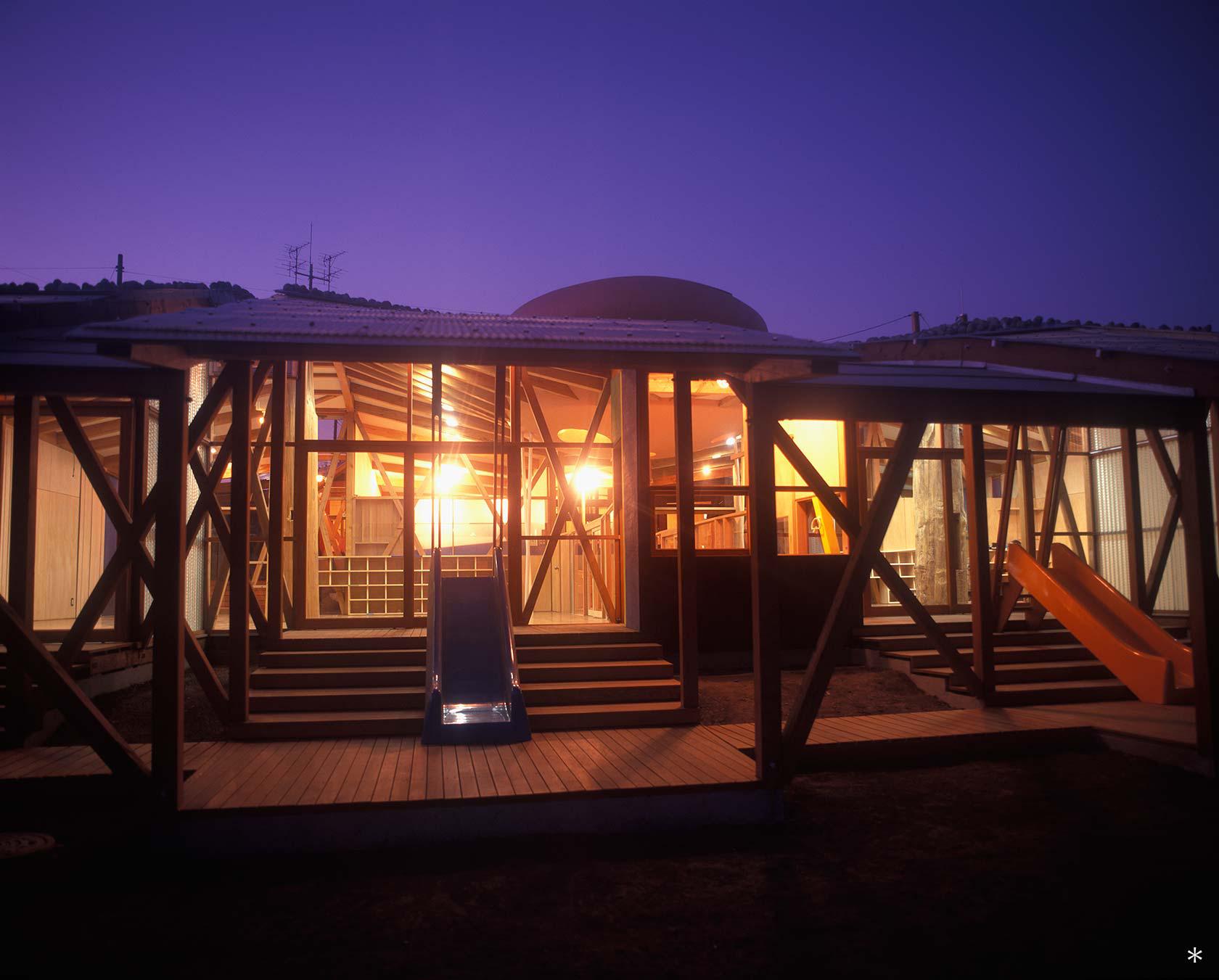 A保育センター19-ありんこ棟テラス 夜景
