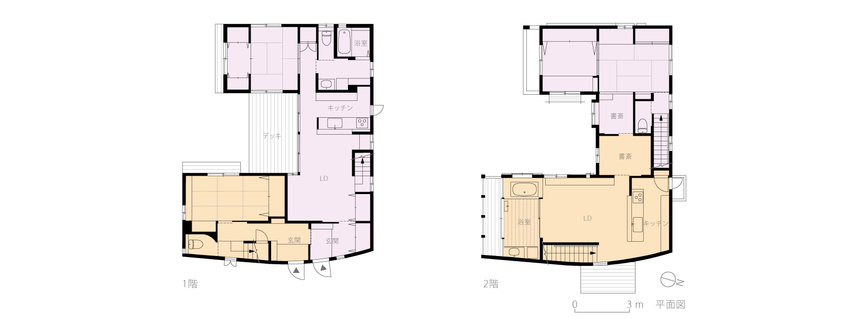 横浜M邸5-平面図