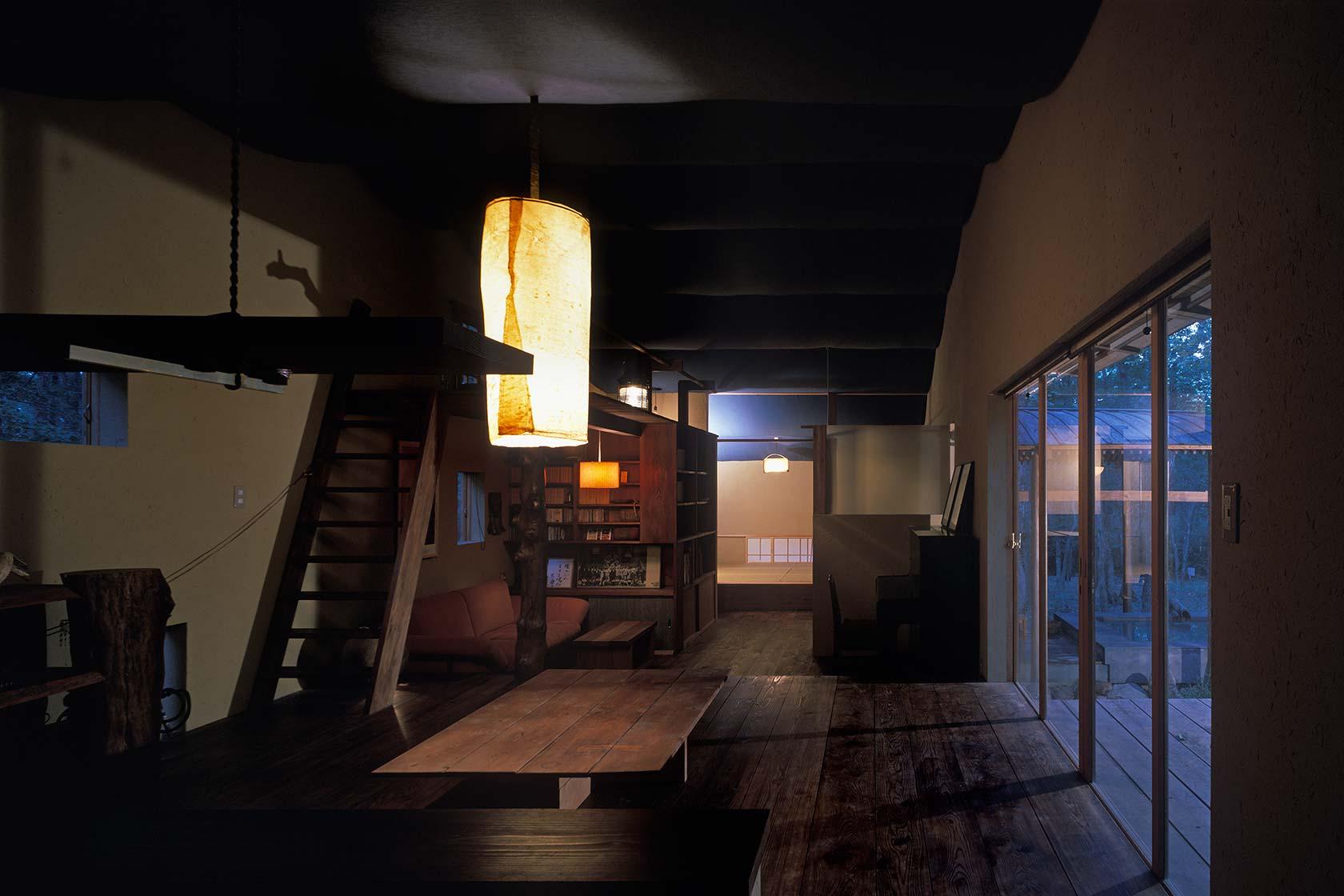 U邸別荘4-板の間内観
