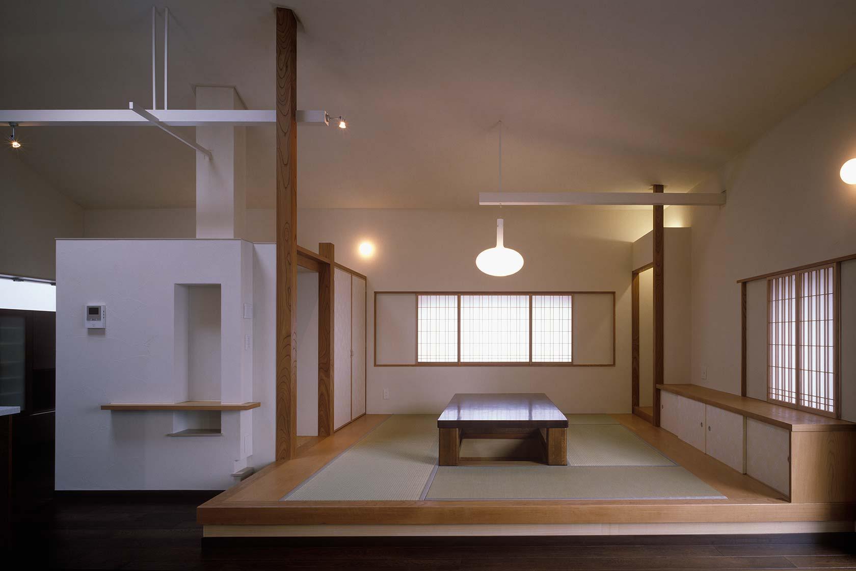 K織物株式会社+K邸34-リビング、ダイニングと一体の和室