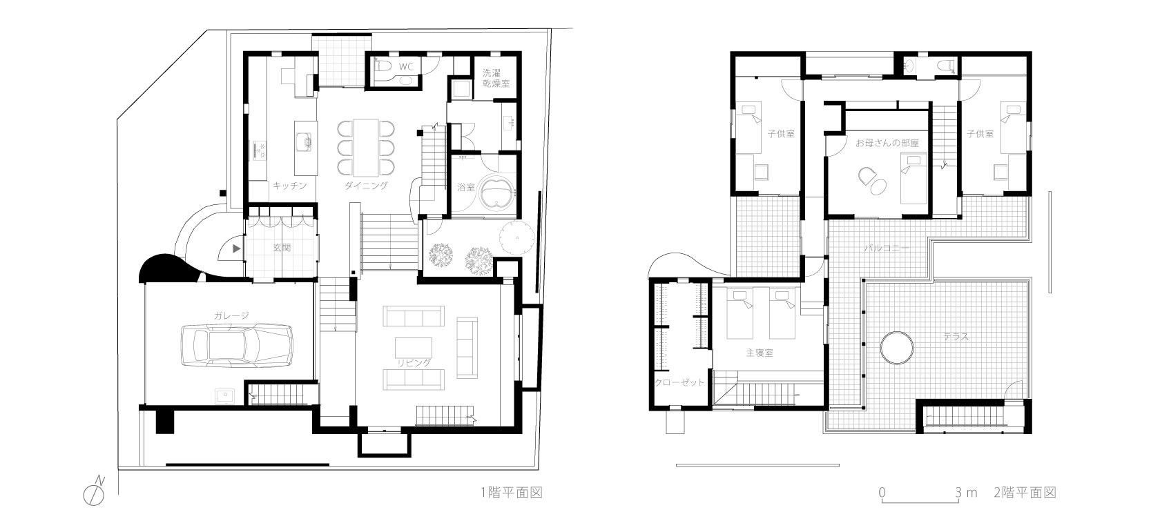八王子M邸6-平面図
