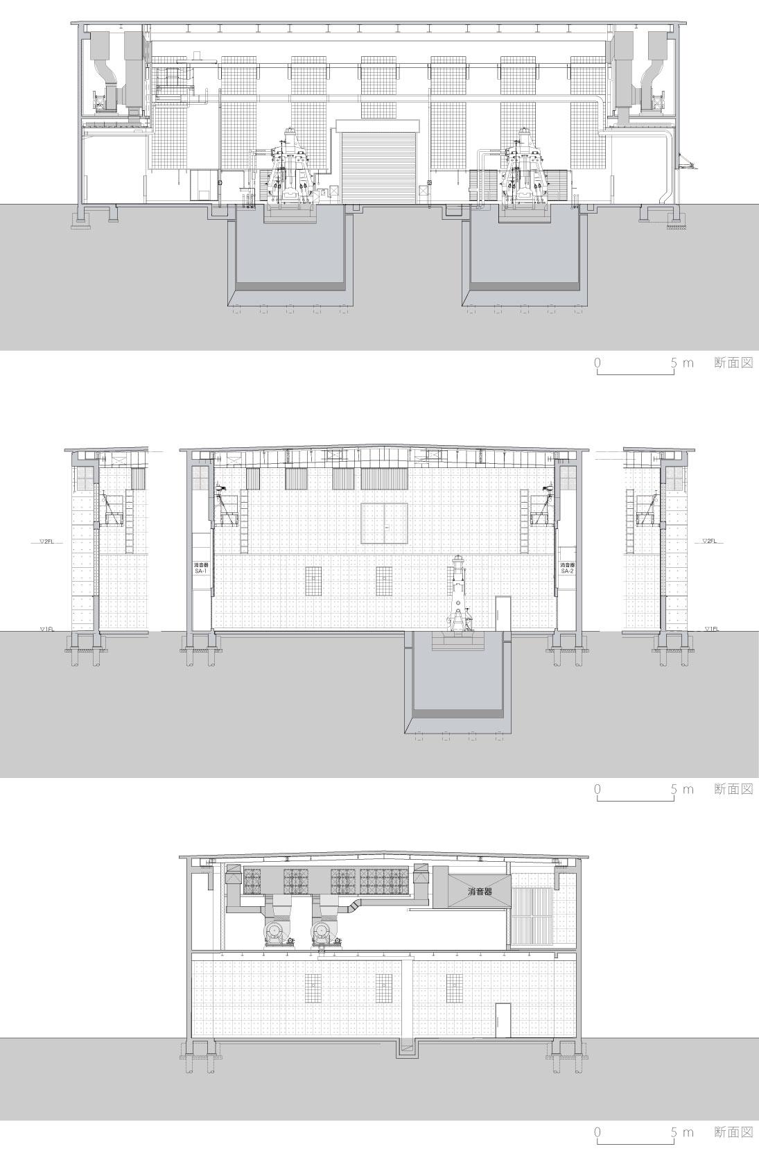 新鍛造工場40-断面図