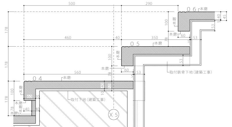 K織物株式会社+K邸17-詳細図3