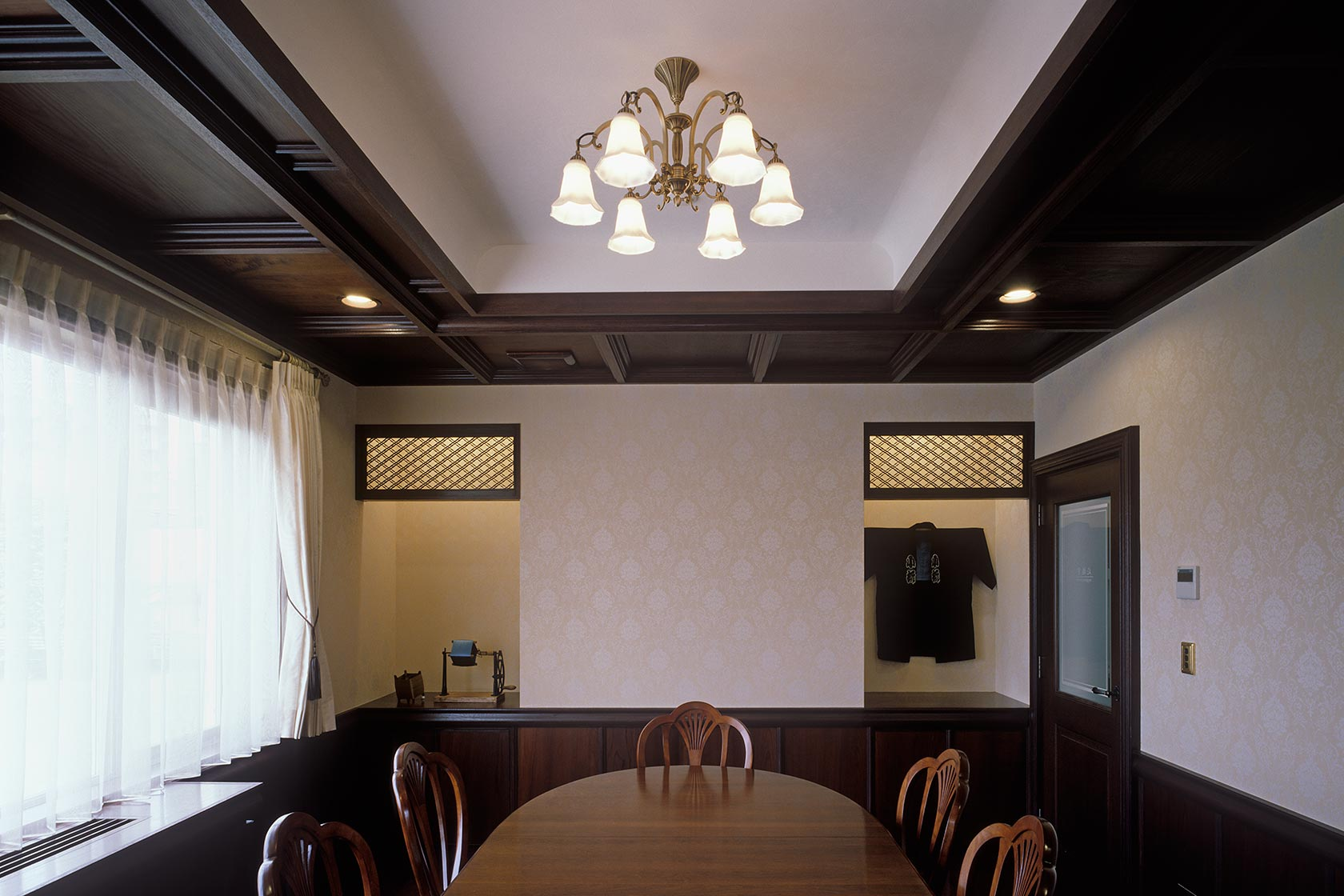 K織物株式会社+K邸20-応接室