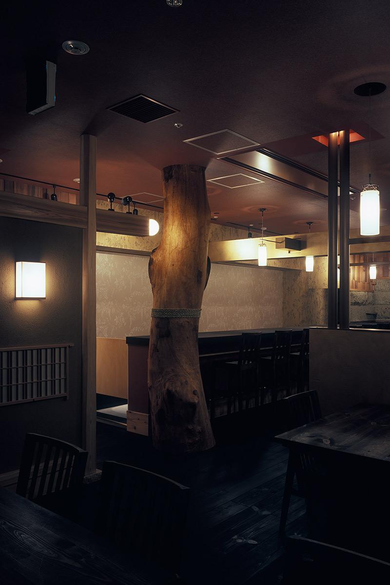 然4-太い楠の柱