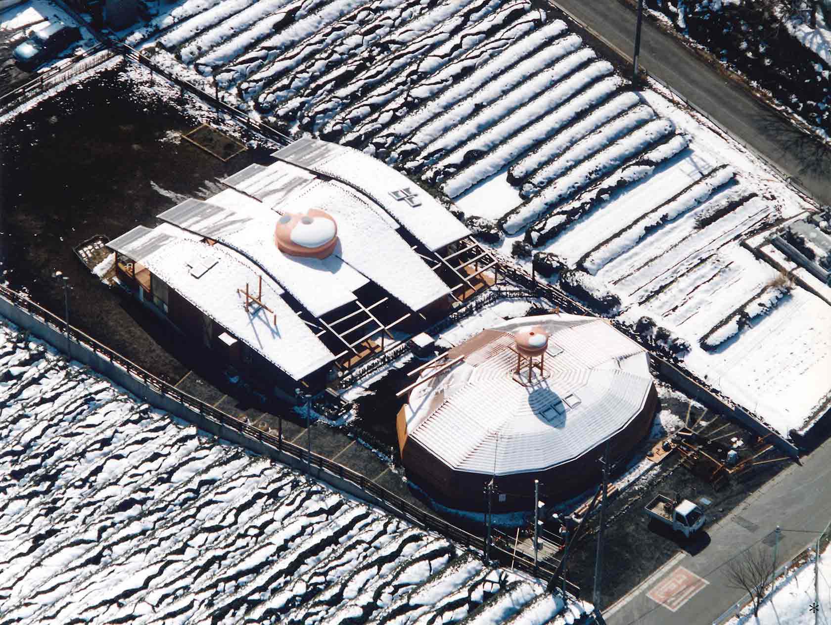 A保育センター20-雪景色の中の保育センター