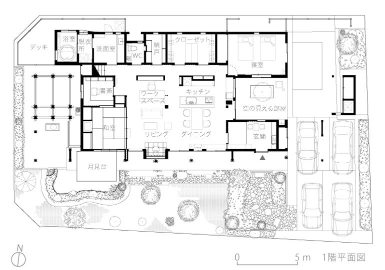 吉野ヶ里の家9-平面図