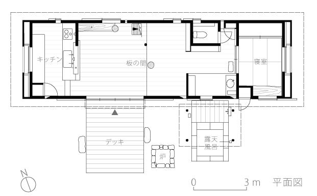 U邸別荘3-平面図