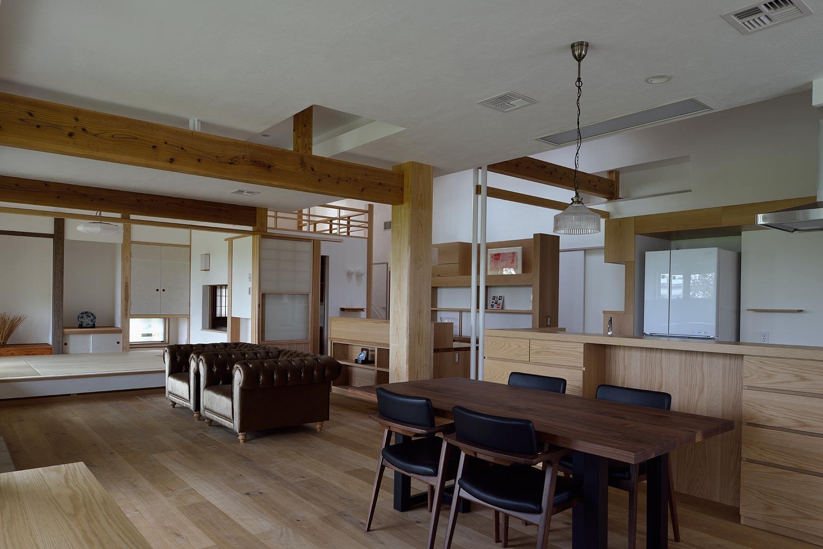 吉野ヶ里の家8-LDKと家事コーナー