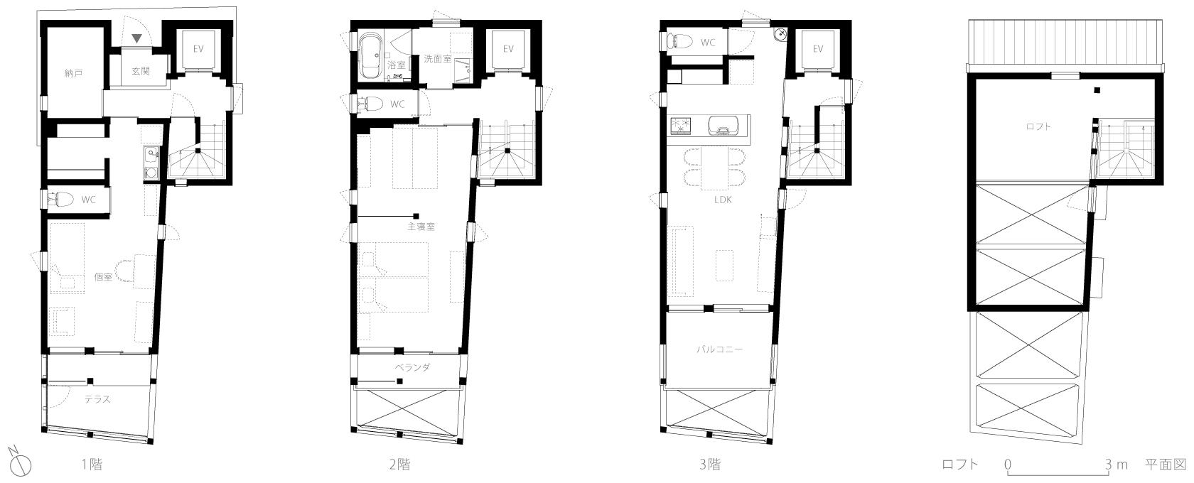 経堂の家5-平面図