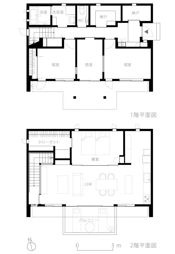 八王子H邸4-平面図