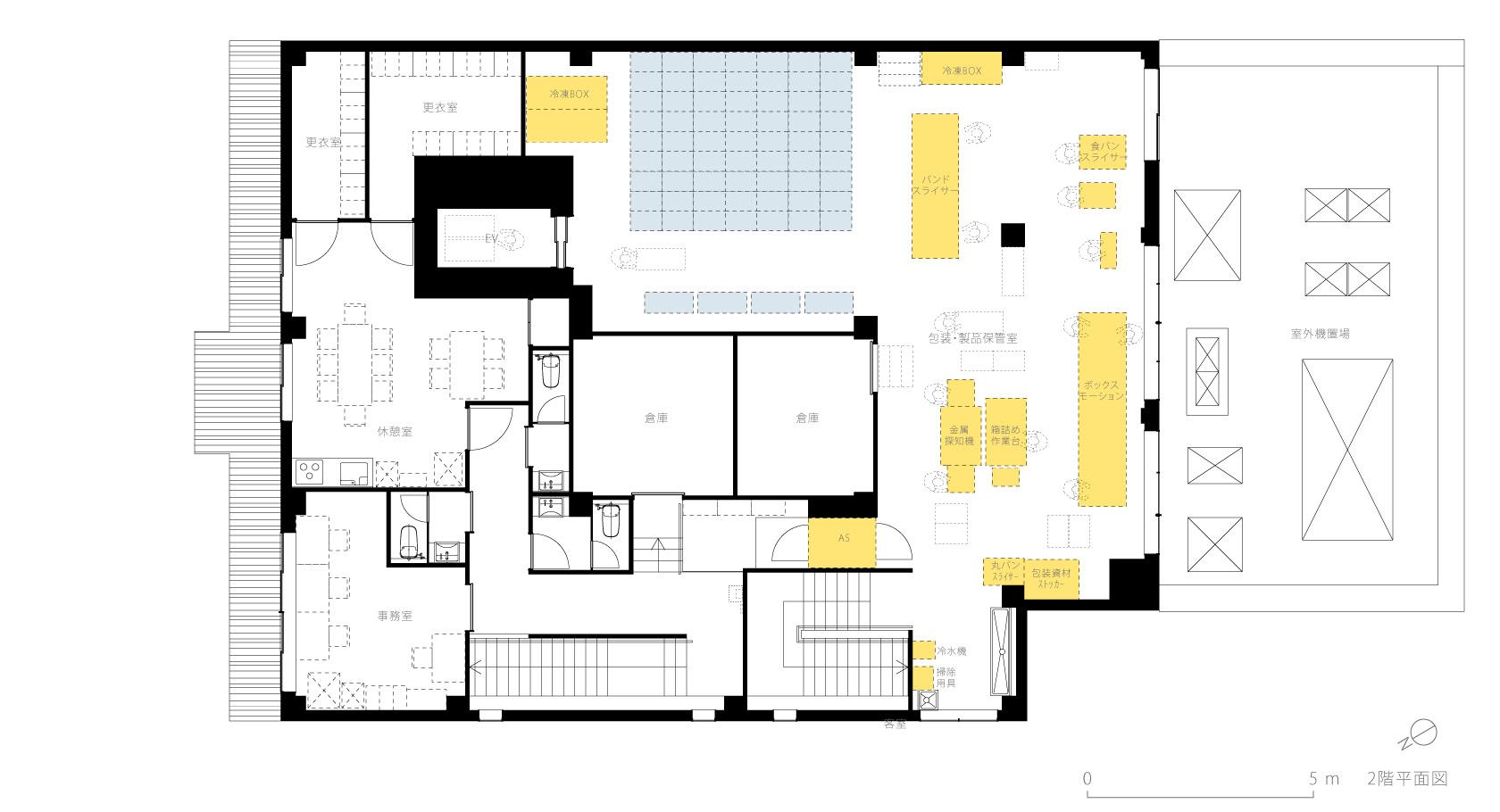 イチマツ食品瑞穂町新工場8-2F平面図