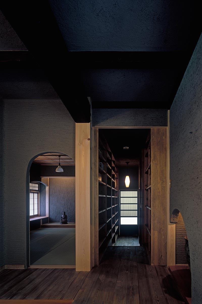 京都U邸4-玄関東側