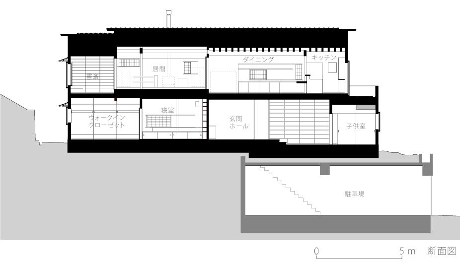 京都U邸7-断面図