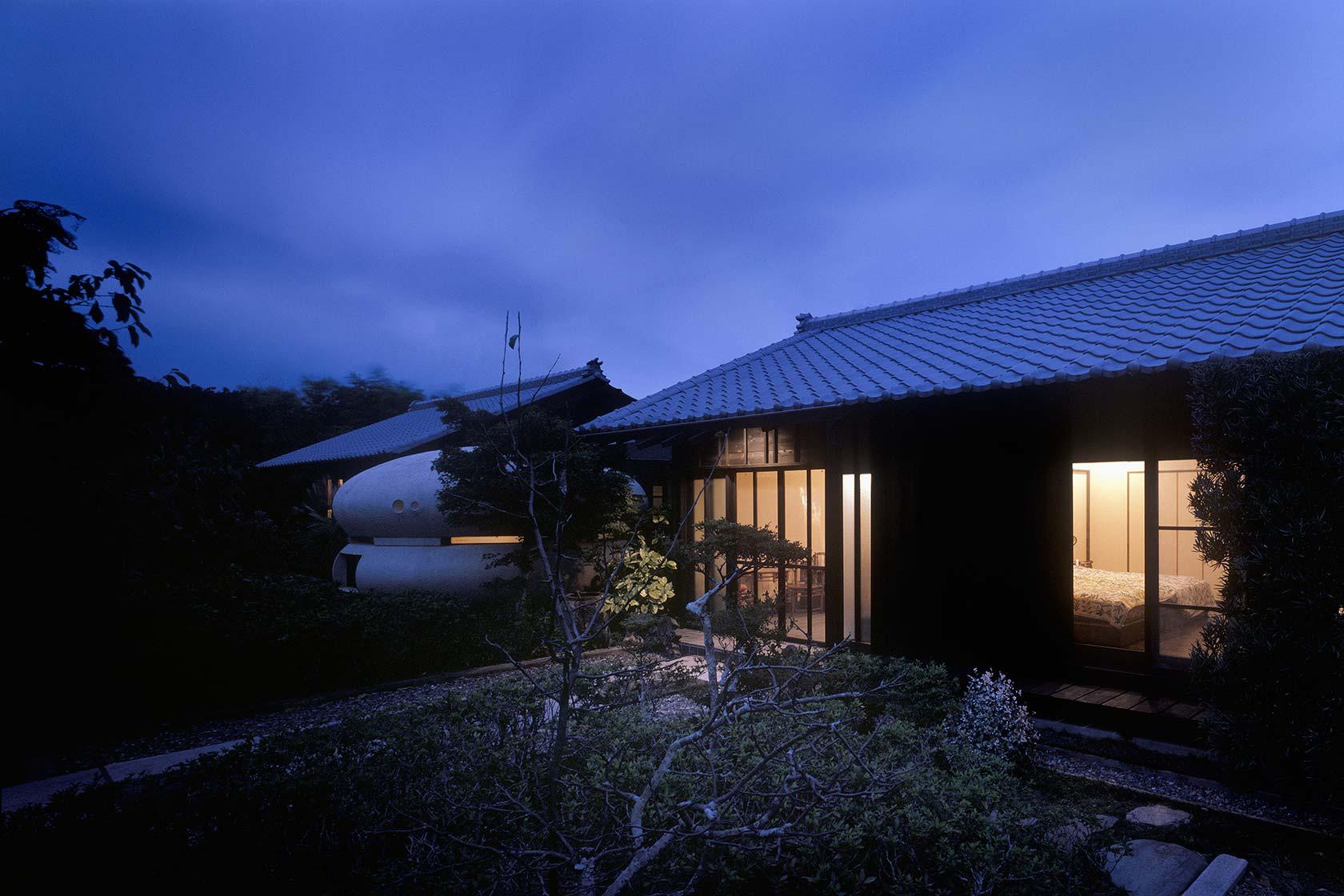 静岡H邸13-西面外観 夜景